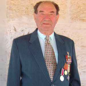 Arkadi with his medals.
